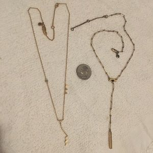 Madewell necklace bundle. In vintage gold color.